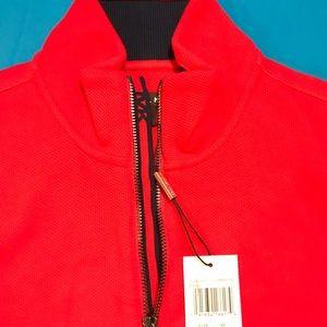 ❤️Michael Kors Ribbed Half Zip Sweater  Summer red